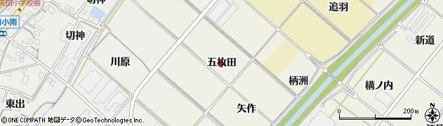 愛知県西尾市国森町(五枚田)周辺の地図