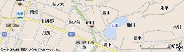 愛知県豊川市金沢町(市川)周辺の地図