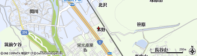 愛知県豊川市御油町(米野)周辺の地図