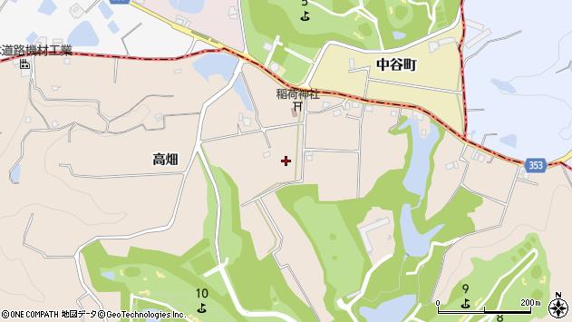 〒673-0724 兵庫県三木市細川町高畑の地図