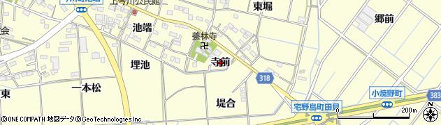 愛知県西尾市今川町(寺前)周辺の地図