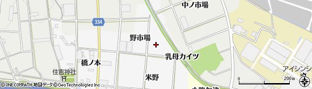 愛知県豊川市六角町(野市場)周辺の地図
