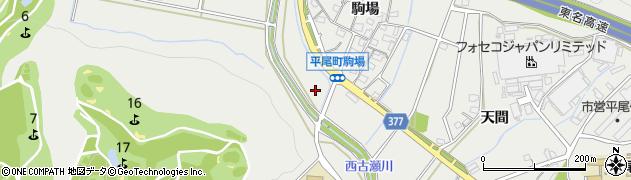 愛知県豊川市平尾町(丸田)周辺の地図