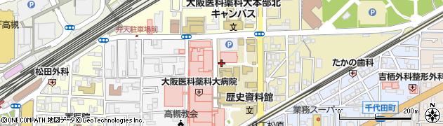 大阪府高槻市大学町周辺の地図