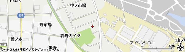 愛知県豊川市千両町(下ノ市場)周辺の地図