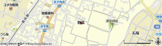 愛知県豊川市一宮町(野添)周辺の地図