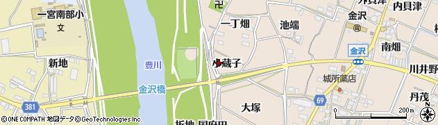 愛知県豊川市金沢町(小蔵子)周辺の地図