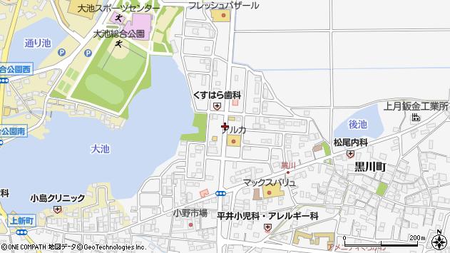 〒675-1371 兵庫県小野市黒川町の地図