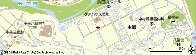 島根県浜田市内村町(本郷)周辺の地図