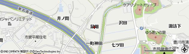 愛知県豊川市平尾町(鼠畑)周辺の地図