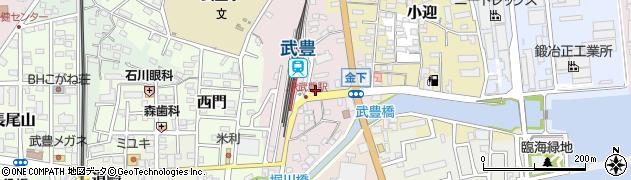 愛知県武豊町(知多郡)金下周辺の地図