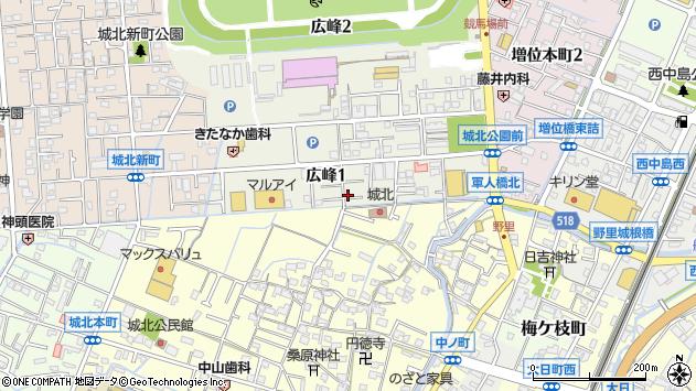 〒670-0882 兵庫県姫路市広峰の地図