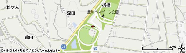 愛知県豊川市千両町(折橋)周辺の地図