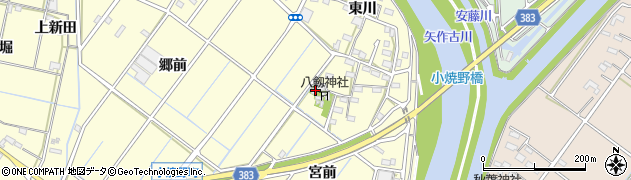 愛知県西尾市小焼野町周辺の地図
