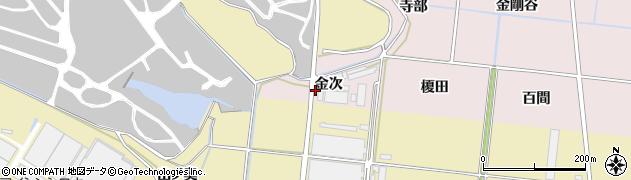 愛知県豊川市西原町(金次)周辺の地図