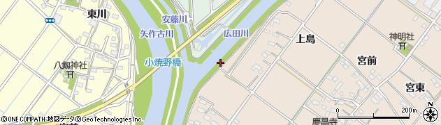 愛知県西尾市花蔵寺町(権十)周辺の地図