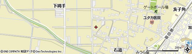 愛知県豊川市大木町(下縄手)周辺の地図