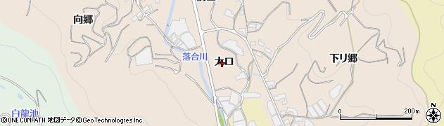 愛知県蒲郡市坂本町(大口)周辺の地図
