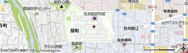 大阪府高槻市紫町周辺の地図