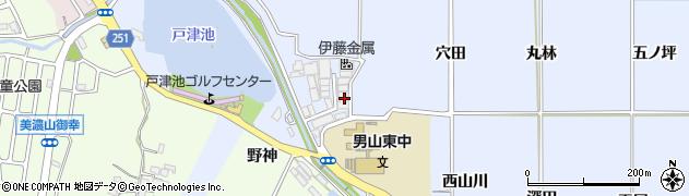 京都府八幡市内里(砂畠)周辺の地図