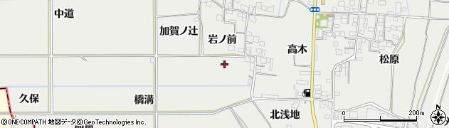 京都府八幡市岩田(岩ノ前)周辺の地図