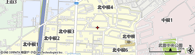 愛知県武豊町(知多郡)北中根周辺の地図