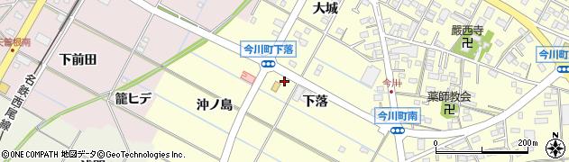 愛知県西尾市今川町(下落)周辺の地図