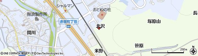 愛知県豊川市御油町(北沢)周辺の地図