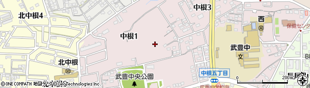 愛知県武豊町(知多郡)中根周辺の地図