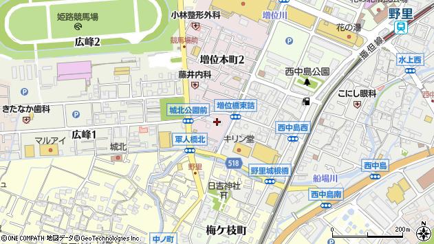 〒670-0807 兵庫県姫路市増位本町の地図