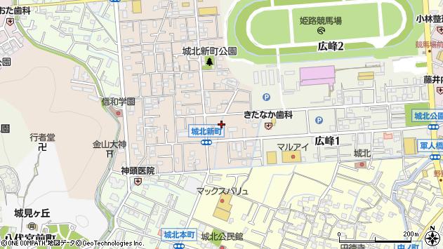〒670-0883 兵庫県姫路市城北新町の地図