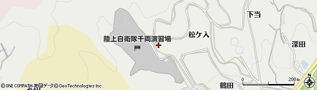 愛知県豊川市千両町(滝ノ入)周辺の地図