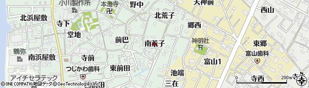愛知県西尾市楠村町(南荒子)周辺の地図