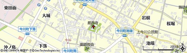 厳西寺周辺の地図