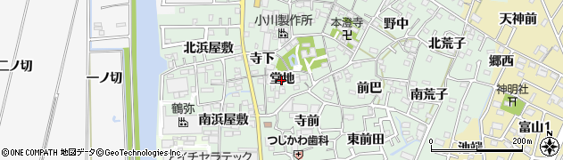 愛知県西尾市楠村町(堂地)周辺の地図