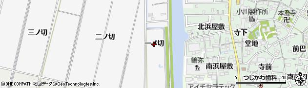 愛知県西尾市平坂町(一ノ切)周辺の地図