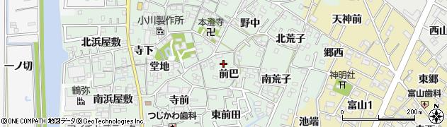 愛知県西尾市楠村町周辺の地図