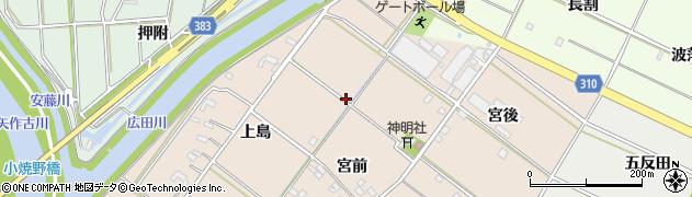 愛知県西尾市花蔵寺町周辺の地図