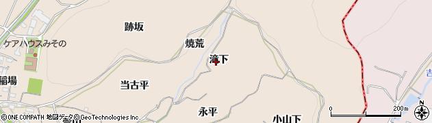 愛知県豊川市金沢町(滝下)周辺の地図