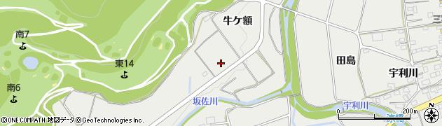 愛知県新城市富岡(牛ケ額)周辺の地図