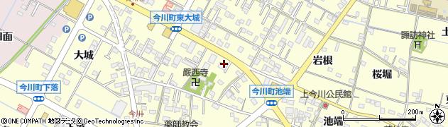 愛知県西尾市今川町(御堂東)周辺の地図