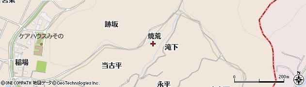 愛知県豊川市金沢町(焼荒)周辺の地図