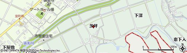 愛知県西尾市平原町(茨坪)周辺の地図