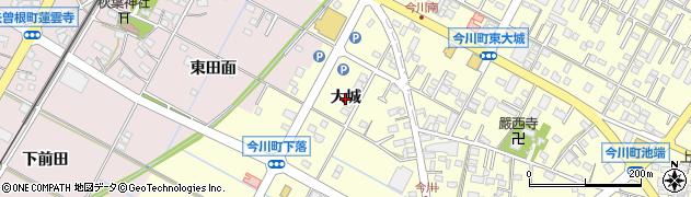 愛知県西尾市今川町(大城)周辺の地図