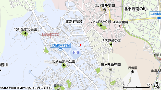 〒670-0091 兵庫県姫路市北新在家の地図