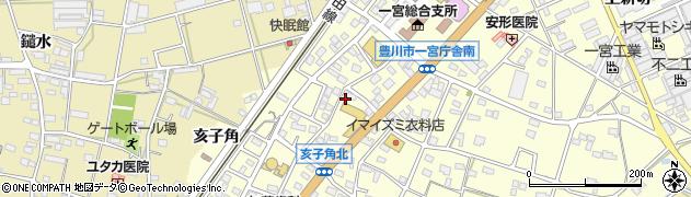 愛知県豊川市一宮町(栄)周辺の地図