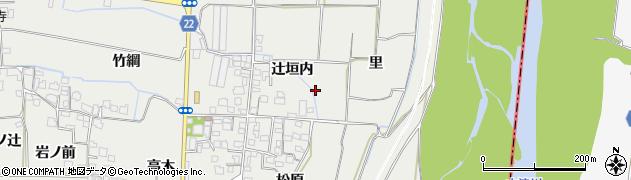 京都府八幡市岩田(辻垣内)周辺の地図