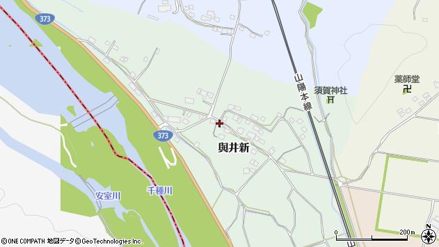 〒678-1224 兵庫県赤穂郡上郡町與井新の地図