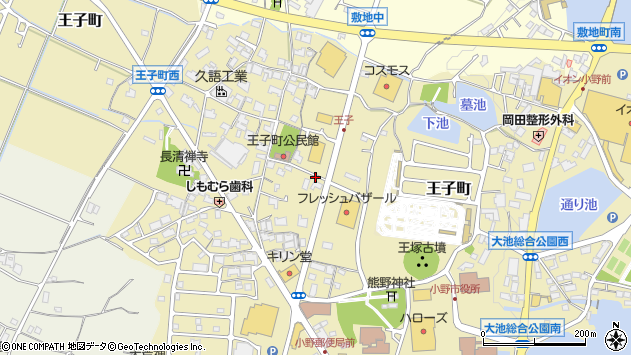〒675-1378 兵庫県小野市王子町の地図