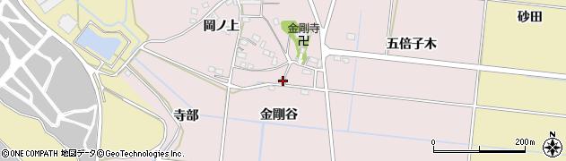 愛知県豊川市西原町(金剛谷)周辺の地図